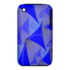 Wave Chevron Plaid Circle Polka Line Light Blue Triangle Iphone 3s/3gs by Mariart