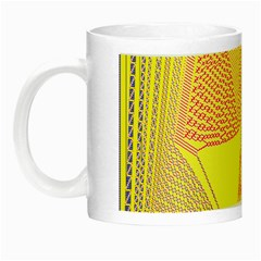 Wave Chevron Plaid Circle Polka Line Light Yellow Red Blue Triangle Night Luminous Mugs by Mariart