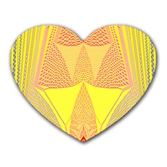 Wave Chevron Plaid Circle Polka Line Light Yellow Red Blue Triangle Heart Mousepads by Mariart
