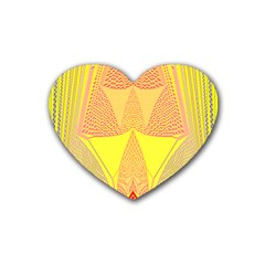 Wave Chevron Plaid Circle Polka Line Light Yellow Red Blue Triangle Heart Coaster (4 Pack)  by Mariart