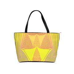 Wave Chevron Plaid Circle Polka Line Light Yellow Red Blue Triangle Shoulder Handbags by Mariart