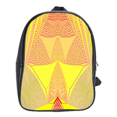 Wave Chevron Plaid Circle Polka Line Light Yellow Red Blue Triangle School Bags(large)