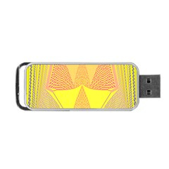 Wave Chevron Plaid Circle Polka Line Light Yellow Red Blue Triangle Portable Usb Flash (one Side) by Mariart