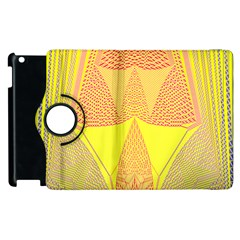 Wave Chevron Plaid Circle Polka Line Light Yellow Red Blue Triangle Apple Ipad 3/4 Flip 360 Case by Mariart