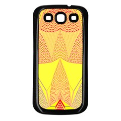 Wave Chevron Plaid Circle Polka Line Light Yellow Red Blue Triangle Samsung Galaxy S3 Back Case (black) by Mariart