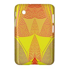 Wave Chevron Plaid Circle Polka Line Light Yellow Red Blue Triangle Samsung Galaxy Tab 2 (7 ) P3100 Hardshell Case  by Mariart