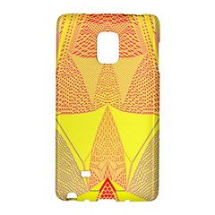 Wave Chevron Plaid Circle Polka Line Light Yellow Red Blue Triangle Galaxy Note Edge by Mariart