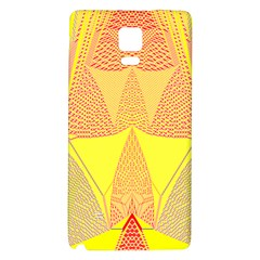 Wave Chevron Plaid Circle Polka Line Light Yellow Red Blue Triangle Galaxy Note 4 Back Case by Mariart