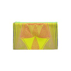 Wave Chevron Plaid Circle Polka Line Light Yellow Red Blue Triangle Cosmetic Bag (xs) by Mariart