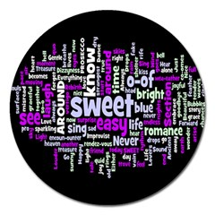 Writing Color Rainbow Sweer Love Magnet 5  (round) by Mariart