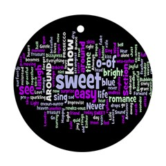 Writing Color Rainbow Sweer Love Round Ornament (two Sides) by Mariart