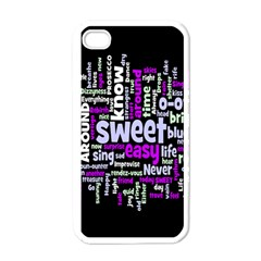 Writing Color Rainbow Sweer Love Apple Iphone 4 Case (white)
