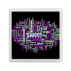 Writing Color Rainbow Sweer Love Memory Card Reader (square)  by Mariart