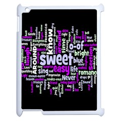 Writing Color Rainbow Sweer Love Apple Ipad 2 Case (white) by Mariart