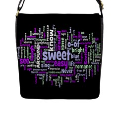Writing Color Rainbow Sweer Love Flap Messenger Bag (l)  by Mariart