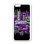 Writing Color Rainbow Sweer Love Apple iPhone 6/6S White Enamel Case Front