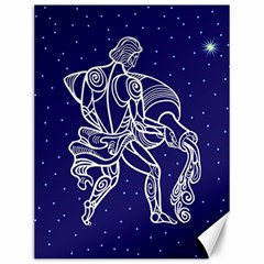 Aquarius Zodiac Star Canvas 12  X 16   by Mariart