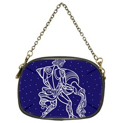 Aquarius Zodiac Star Chain Purses (two Sides)