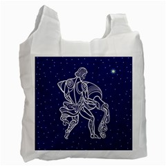 Aquarius Zodiac Star Recycle Bag (one Side) by Mariart