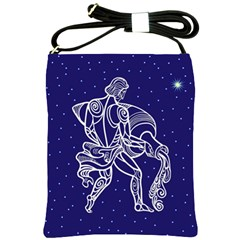Aquarius Zodiac Star Shoulder Sling Bags by Mariart