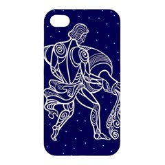 Aquarius Zodiac Star Apple Iphone 4/4s Hardshell Case by Mariart