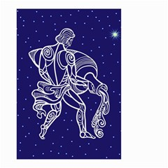 Aquarius Zodiac Star Small Garden Flag (two Sides) by Mariart