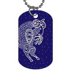 Aries Zodiac Star Dog Tag (two Sides) by Mariart