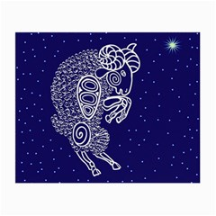 Aries Zodiac Star Small Glasses Cloth (2-side) by Mariart