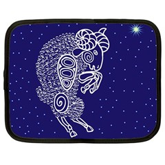 Aries Zodiac Star Netbook Case (large) by Mariart