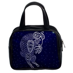 Aries Zodiac Star Classic Handbags (2 Sides) by Mariart