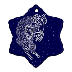 Aries Zodiac Star Ornament (snowflake) by Mariart