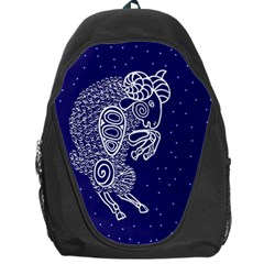 Aries Zodiac Star Backpack Bag by Mariart