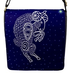 Aries Zodiac Star Flap Messenger Bag (s) by Mariart