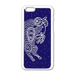 Aries Zodiac Star Apple Iphone 6/6s White Enamel Case by Mariart
