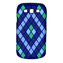 Blue Diamonds Green Grey Plaid Line Chevron Samsung Galaxy S Iii Classic Hardshell Case (pc+silicone) by Mariart