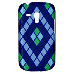 Blue Diamonds Green Grey Plaid Line Chevron Galaxy S3 Mini by Mariart