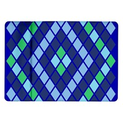 Blue Diamonds Green Grey Plaid Line Chevron Samsung Galaxy Tab 10 1  P7500 Flip Case