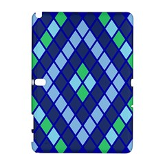 Blue Diamonds Green Grey Plaid Line Chevron Galaxy Note 1