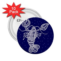 Cancer Zodiac Star 2 25  Buttons (10 Pack)