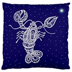 Cancer Zodiac Star Large Cushion Case (Two Sides) Back