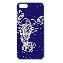Cancer Zodiac Star Apple Seamless Iphone 5 Case (clear) by Mariart