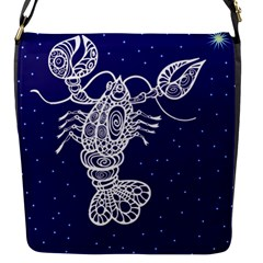 Cancer Zodiac Star Flap Messenger Bag (s) by Mariart