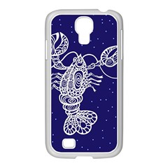 Cancer Zodiac Star Samsung Galaxy S4 I9500/ I9505 Case (white) by Mariart