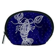 Cancer Zodiac Star Accessory Pouches (medium)  by Mariart