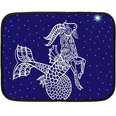 Capricorn Zodiac Star Double Sided Fleece Blanket (mini)  by Mariart