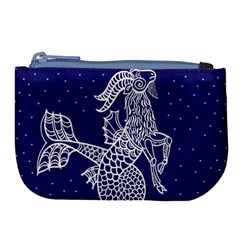 Capricorn Zodiac Star Large Coin Purse by Mariart
