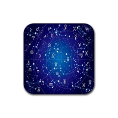 Astrology Illness Prediction Zodiac Star Rubber Square Coaster (4 Pack)  by Mariart