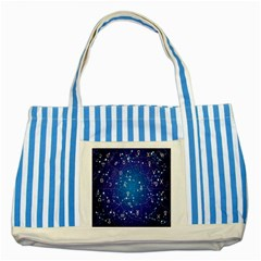 Astrology Illness Prediction Zodiac Star Striped Blue Tote Bag by Mariart