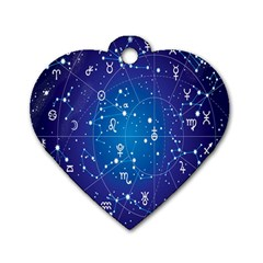 Astrology Illness Prediction Zodiac Star Dog Tag Heart (two Sides) by Mariart