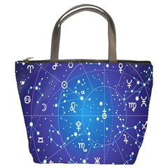Astrology Illness Prediction Zodiac Star Bucket Bags by Mariart